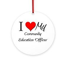 I Heart My Community Education Officer Ornament (R