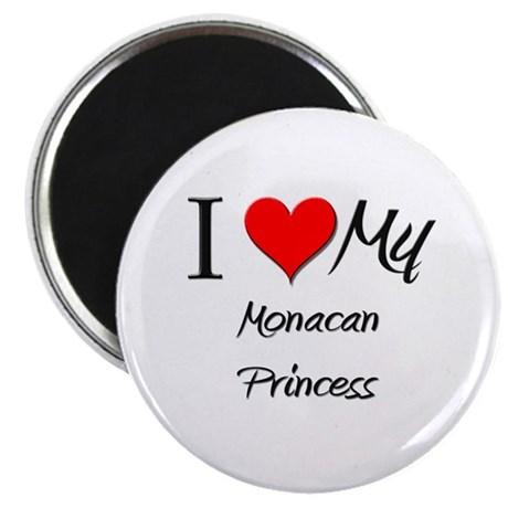 I Love My Monacan Princess Magnet