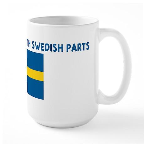 MADE IN AMERICA WITH SWEDISH Large Mug
