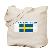 KISS ME I AM SWEDISH Tote Bag
