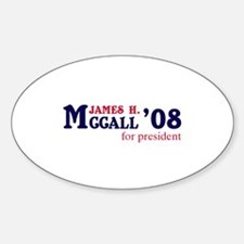 James H. McCall for president Oval Decal