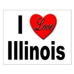 I Love Illinois Small Poster