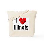 I Love Illinois Tote Bag