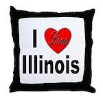 I Love Illinois Throw Pillow