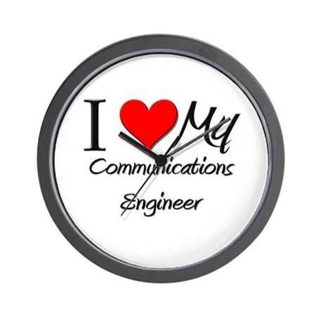 I Heart My Communications Engineer Wall Clock