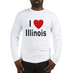 I Love Illinois (Front) Long Sleeve T-Shirt