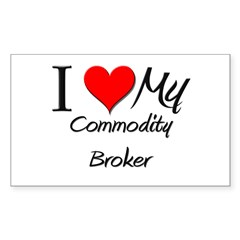 I Heart My Commodity Broker Rectangle Decal