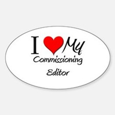 I Heart My Commissioning Editor Oval Decal