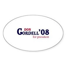 Don Cordell for president 08 Oval Decal