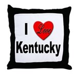 I Love Kentucky Throw Pillow