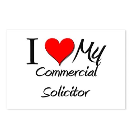 I Heart My Commercial Solicitor Postcards (Package