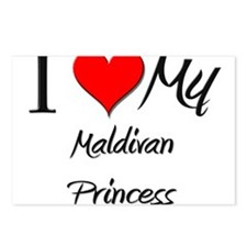I Love My Maldivan Princess Postcards (Package of