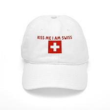 KISS ME I AM SWISS Baseball Baseball Cap