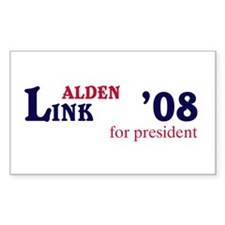 Alden Link for president 08 Rectangle Decal