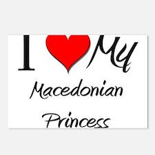 I Love My Macedonian Princess Postcards (Package o