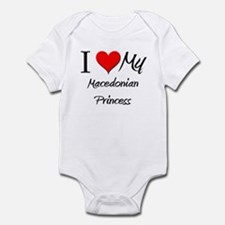 I Love My Macedonian Princess Infant Bodysuit