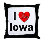 I Love Iowa Throw Pillow