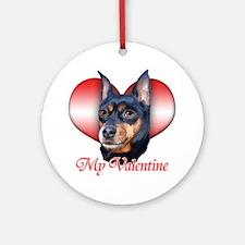 Min Pin Valentine Ornament (Round)