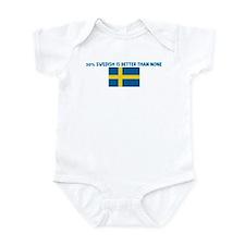 50 PERCENT SWEDISH IS BETTER  Infant Bodysuit