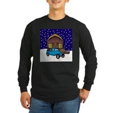 Barn & Vitnage Tow Truck Christmas T