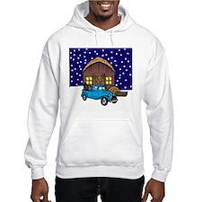 Barn & Vitnage Tow Truck Christmas Hoodie
