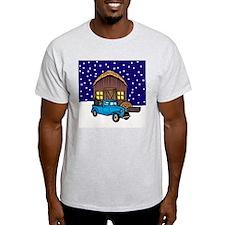 Barn & Vitnage Tow Truck Christmas T-Shirt