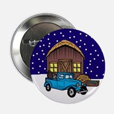 "Barn & Vitnage Tow Truck Christmas 2.25"" Button"