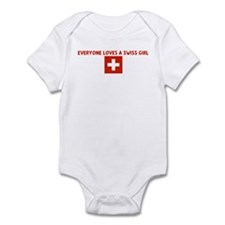 EVERYONE LOVES A SWISS GIRL Infant Bodysuit