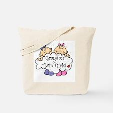 Grandma of Twin Girls Tote Bag