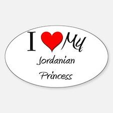 I Love My Jordanian Princess Oval Decal