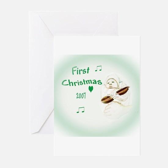 Baby Dulcimer's First Christm Greeting Cards (Pk o