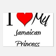 I Love My Jamaican Princess Postcards (Package of