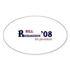 Bill Richardson for presiden Oval Decal