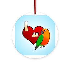 Love Jenday Conure Ornament (Round)