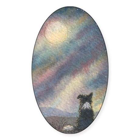 I see the moon... Oval Sticker