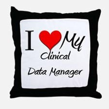 I Heart My Clinical Data Manager Throw Pillow
