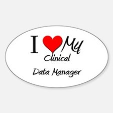 I Heart My Clinical Data Manager Oval Decal