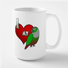 Love Green-Cheeked Conure Large Mug