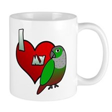 I Love My Green-Cheeked Conure Mug