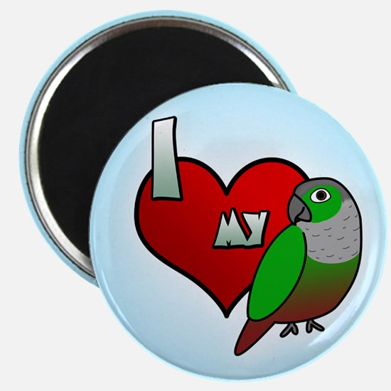Love Green-Cheeked Conure Magnet