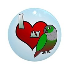 Love Green-Cheeked Conure Ornament (Round)