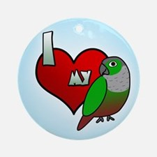 Love Green-Cheeked Conure Ornament (Round)