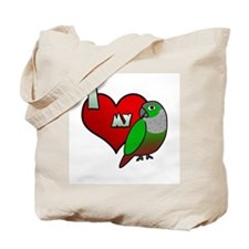 Love Green-Cheeked Conure Tote Bag