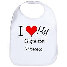 I Love My Guyanese Princess Bib