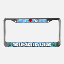 Crtn Love Green-Cheeked Conure License Plate Frame