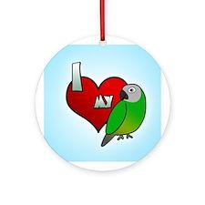 I Love my Dusky Conure Ornament (Round)