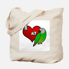 I Love my Dusky Conure Tote Bag
