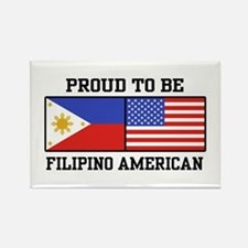 Proud Filipino American Rectangle Magnet