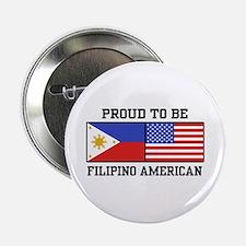 "Proud Filipino American 2.25"" Button"