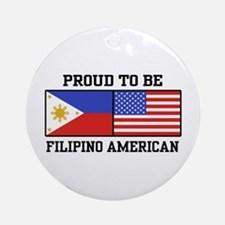 Proud Filipino American Ornament (Round)